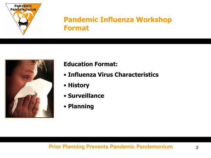 Pandemic Influenza Workshop Format