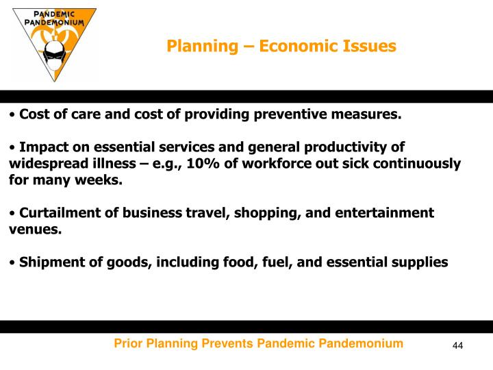 Planning – Economic Issues