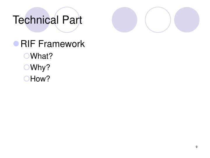 Technical Part
