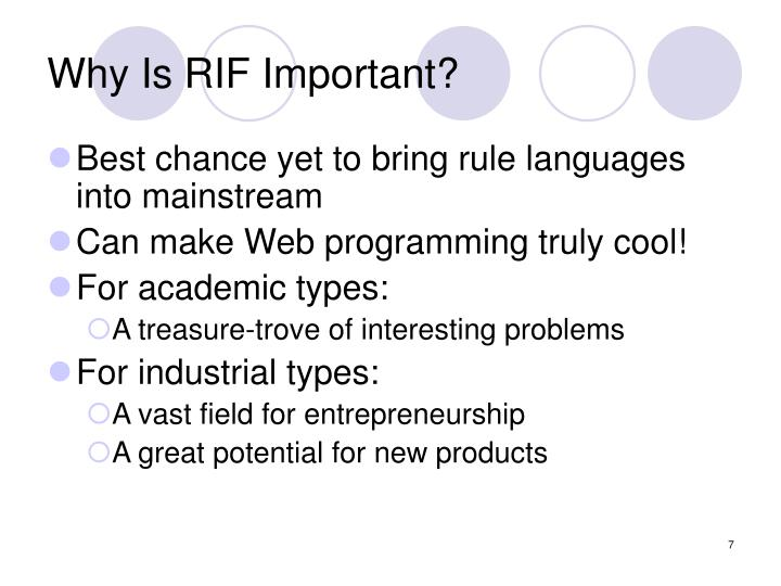 Why Is RIF Important?