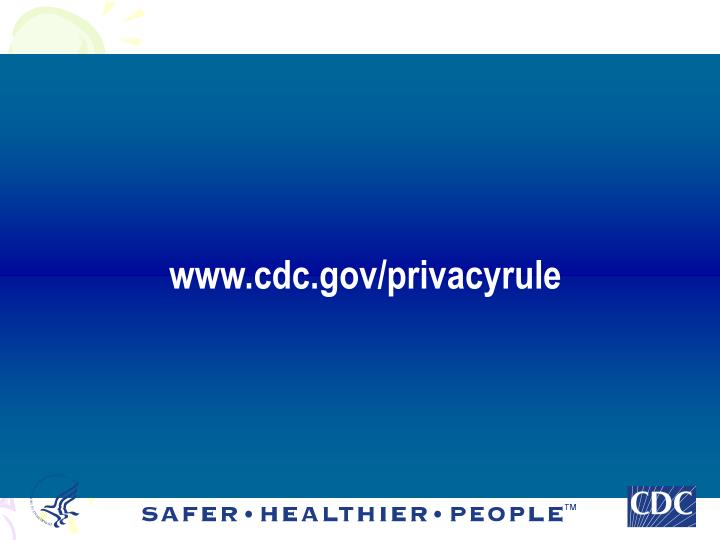 www.cdc.gov/privacyrule