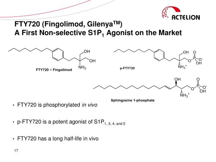 FTY720 (Fingolimod, Gilenya