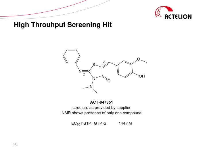 High Throuhput Screening Hit
