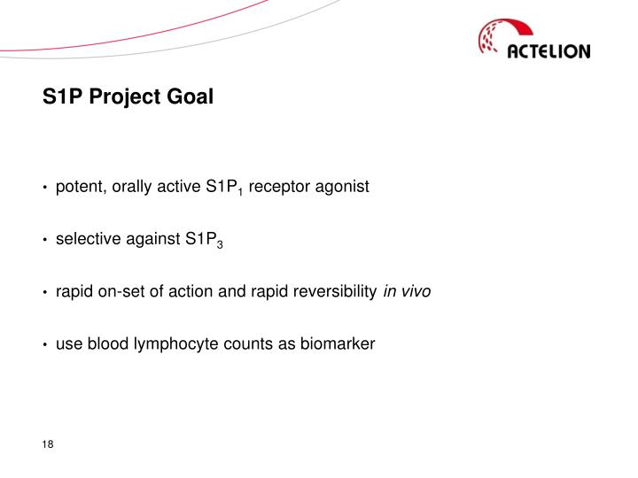 S1P Project Goal
