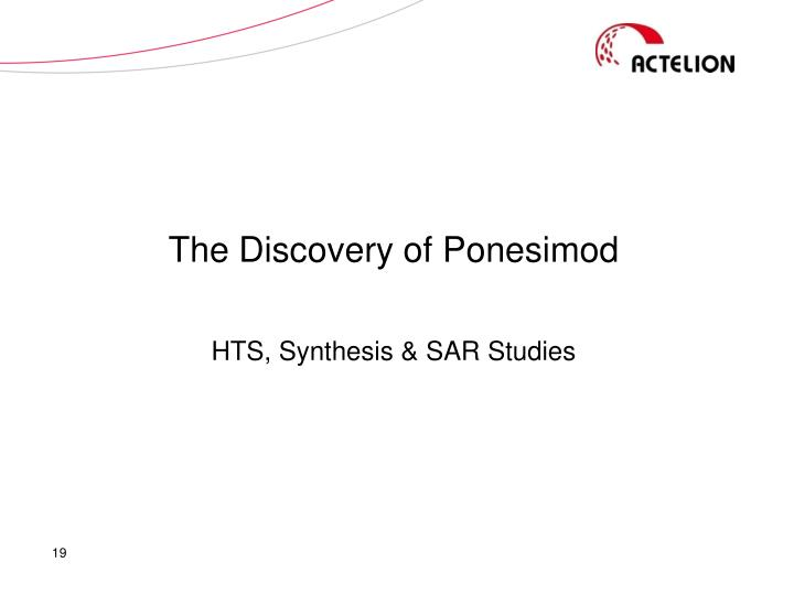The Discovery of Ponesimod