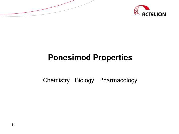 Ponesimod Properties