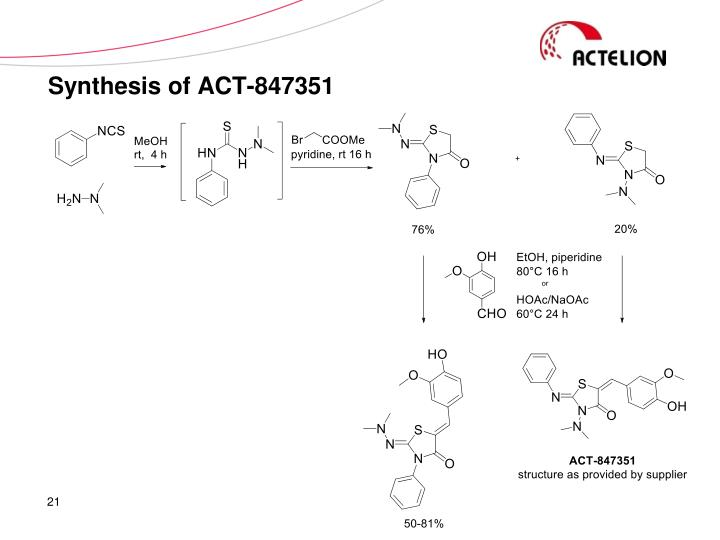 Synthesis of ACT-847351