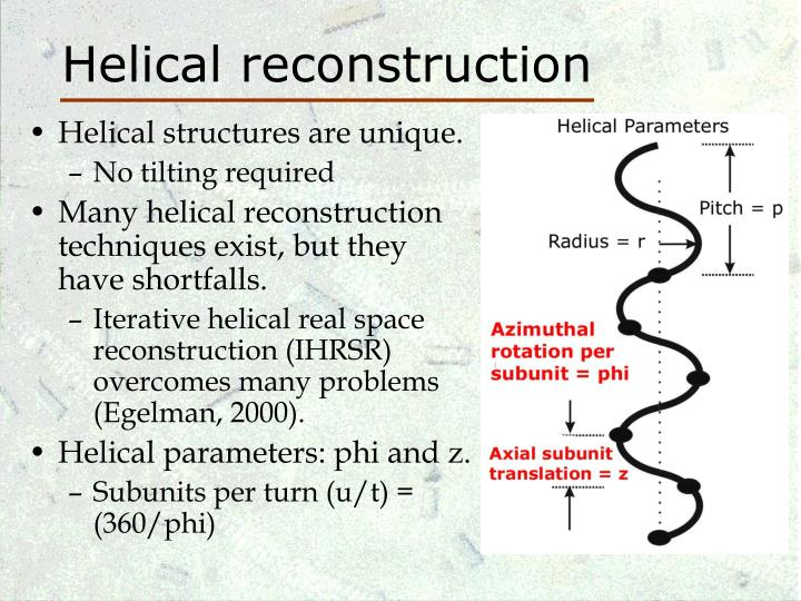 Helical reconstruction