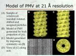 model of pmv at 21 resolution