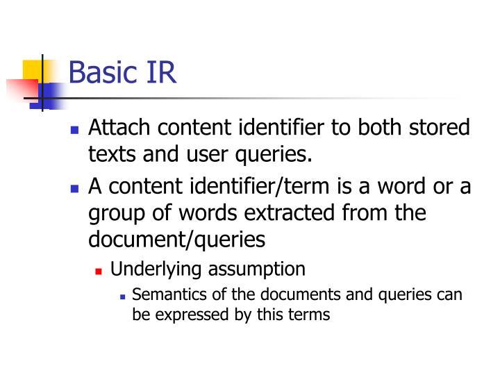 Basic IR