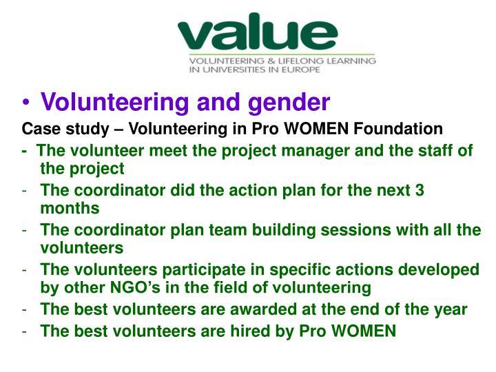 Volunteering and gender