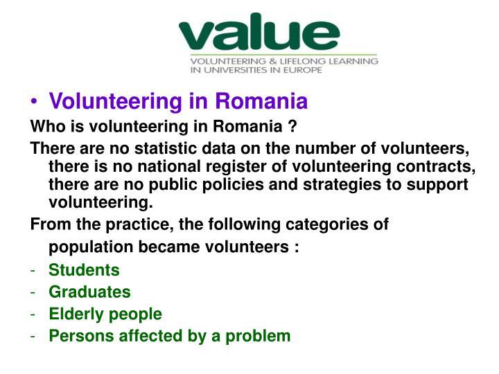 Volunteering in Romania