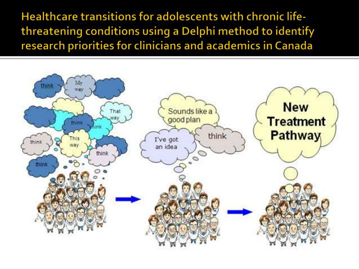 Healthcare transitions for adolescents with chronic life-threatening conditions using a Delphi method to identify research priorities for clinicians and academics in Canada