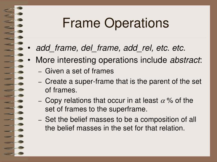 Frame Operations