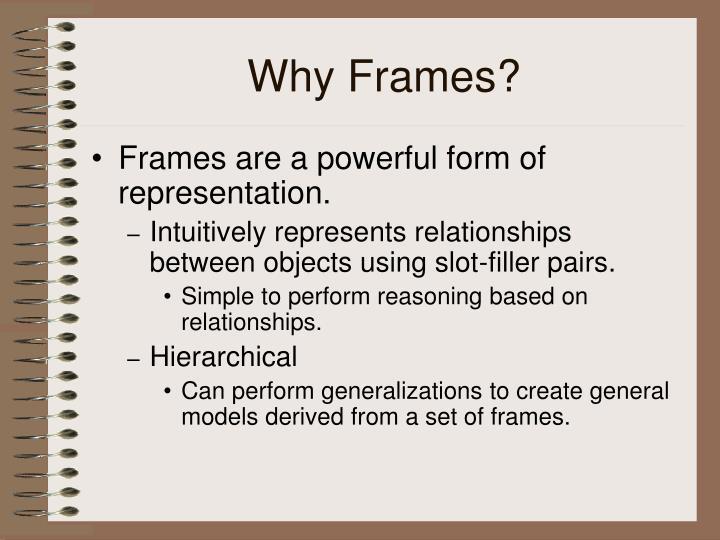 Why Frames?