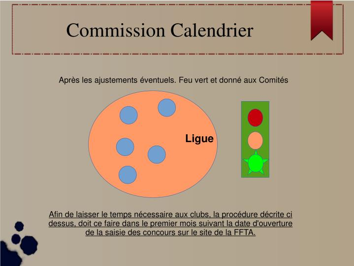 Commission Calendrier
