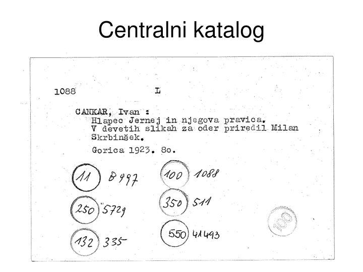 Centralni katalog
