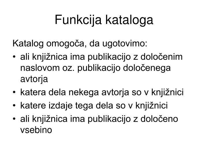 Funkcija kataloga