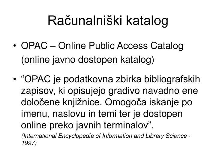 Računalniški katalog