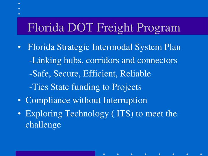 Florida dot freight program