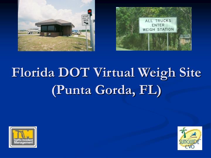 Florida DOT Virtual Weigh Site
