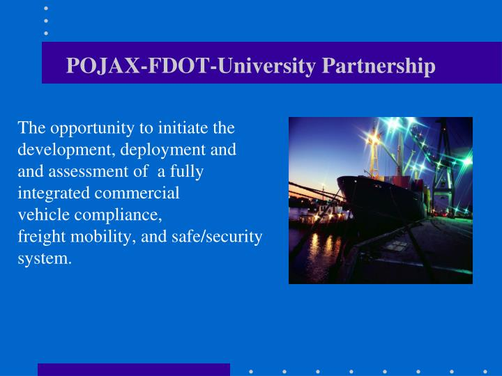 POJAX-FDOT-University Partnership