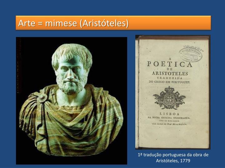 Arte = mimese (Aristóteles)