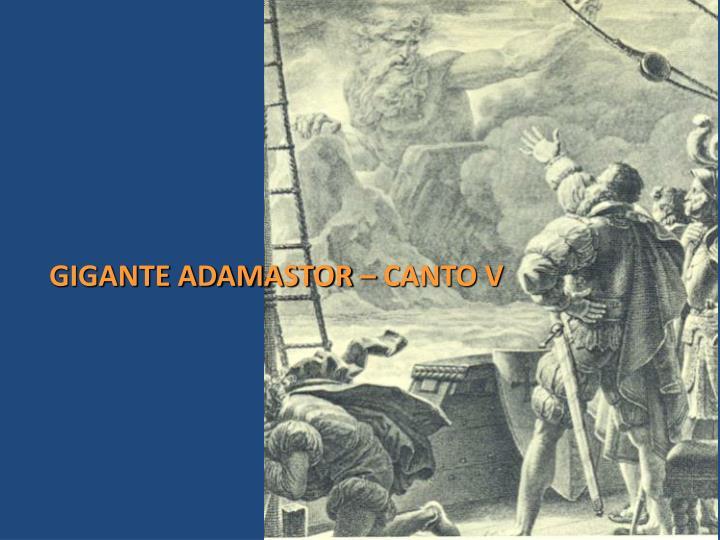 GIGANTE ADAMASTOR – CANTO V