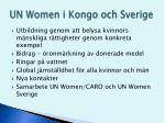 un women i kongo och sverige