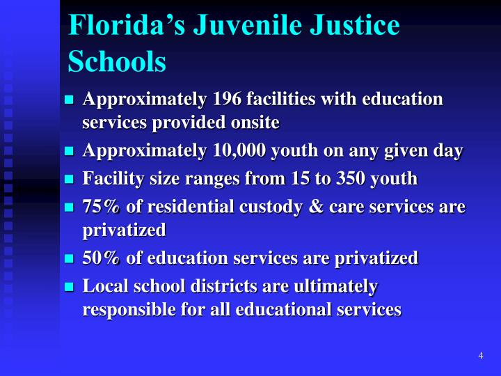 Approximately 196 facilities with education services provided onsite