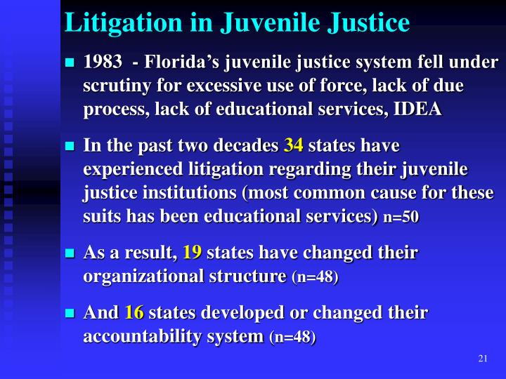 Litigation in Juvenile Justice