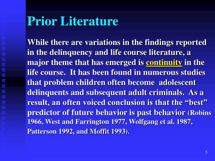 Prior Literature