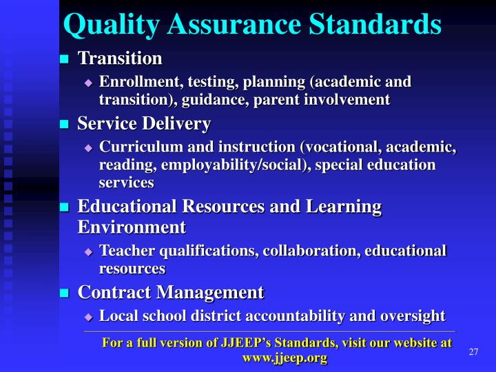 Quality Assurance Standards