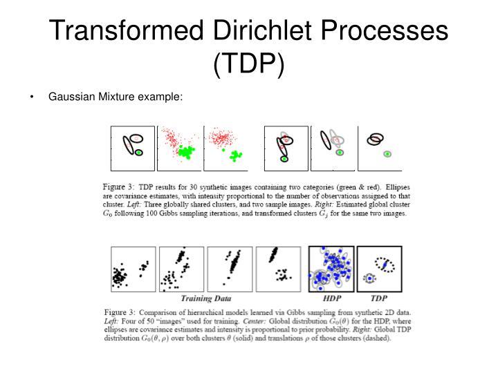Transformed Dirichlet Processes (TDP)