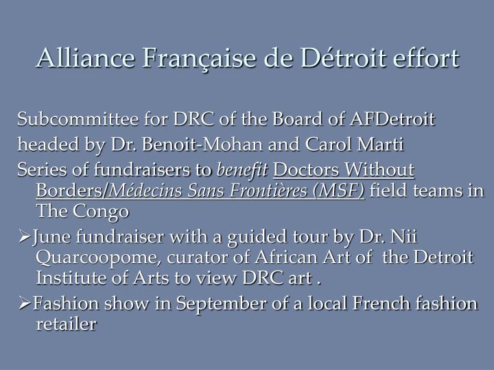 Alliance Française de Détroit effort