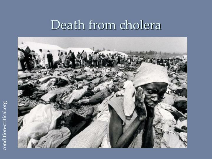 Death from cholera