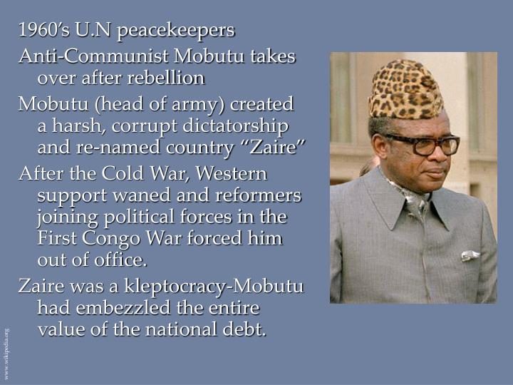 1960's U.N peacekeepers