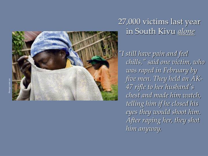 27,000 victims last year in South Kivu