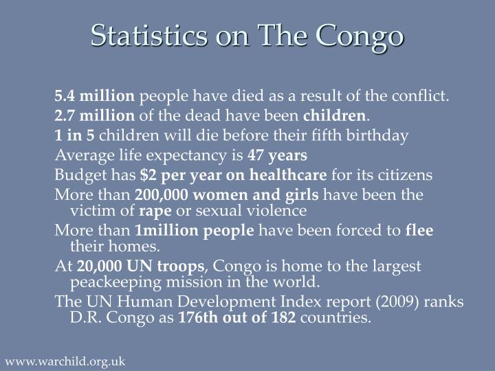 Statistics on The Congo