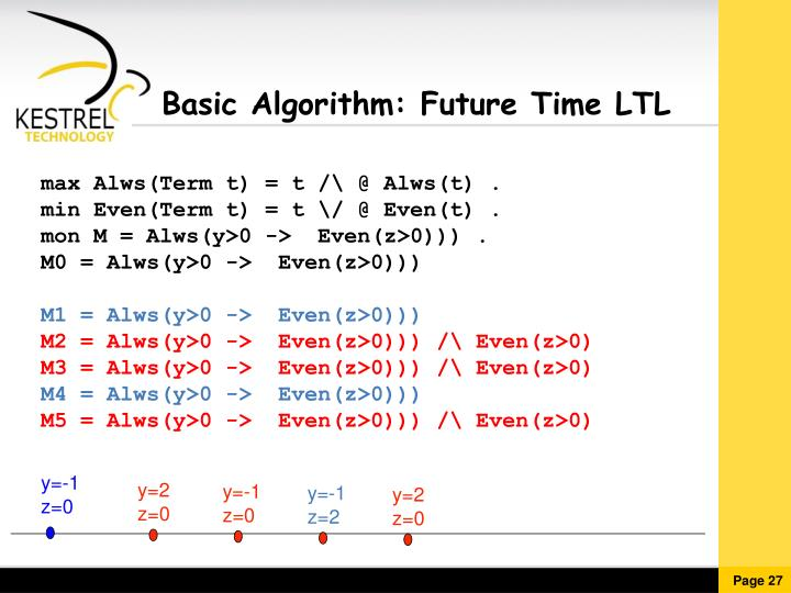 Basic Algorithm: Future Time LTL