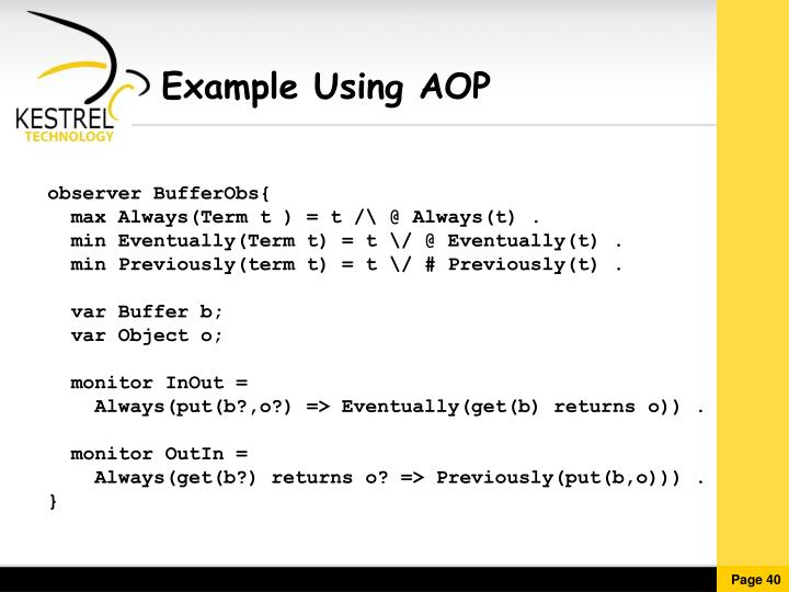 Example Using AOP