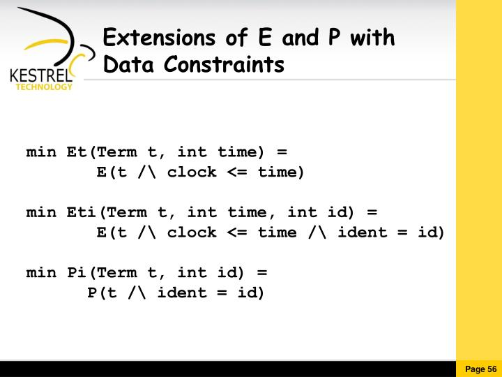Extensions of E and P with
