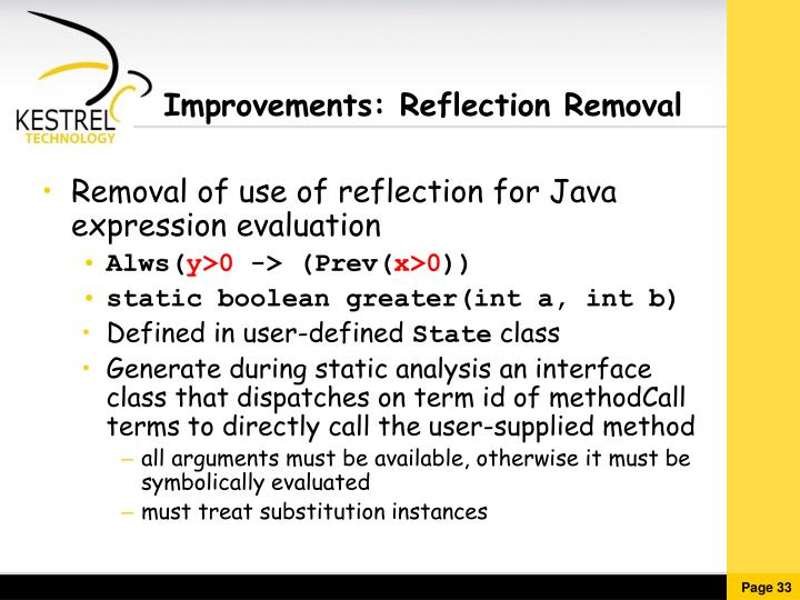 Improvements: Reflection Removal