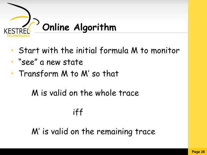 Online Algorithm