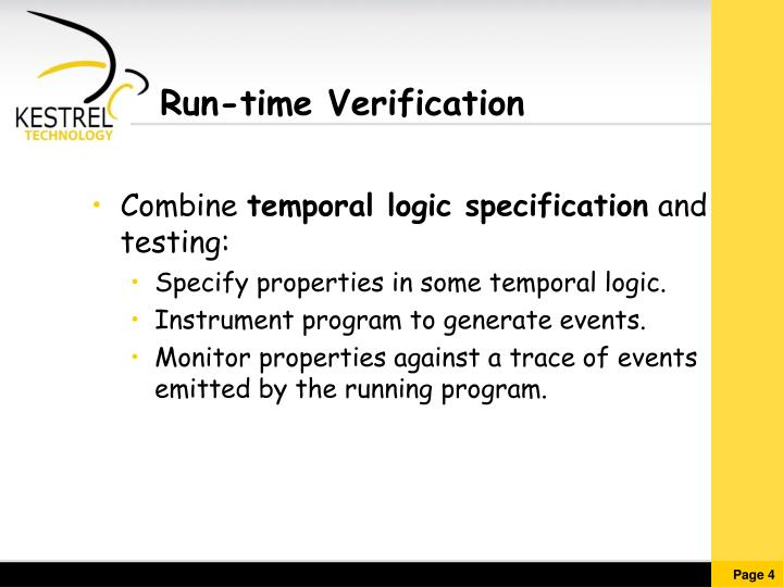 Run-time Verification