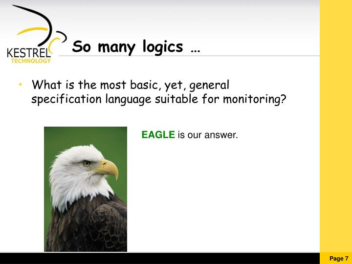 So many logics …