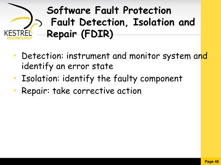 Software Fault Protection