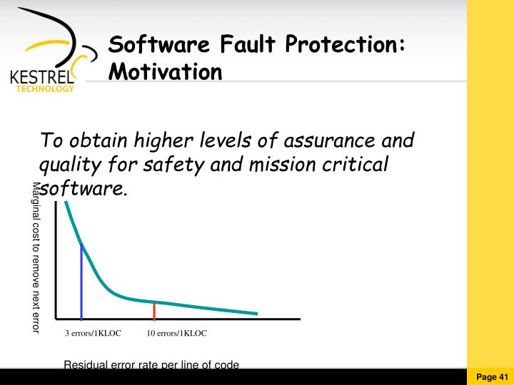Software Fault Protection: