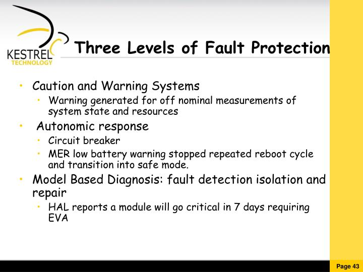 Three Levels of Fault Protection