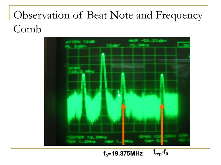 Observation of Beat Note and Frequency Comb